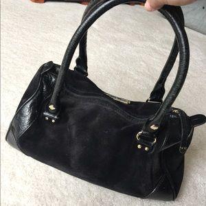 b4de2cae5d kate spade Bags - FINAL SALE! Black suede Kate spade purse
